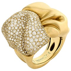 Diamonds 18 Karat Yellow Gold Ring
