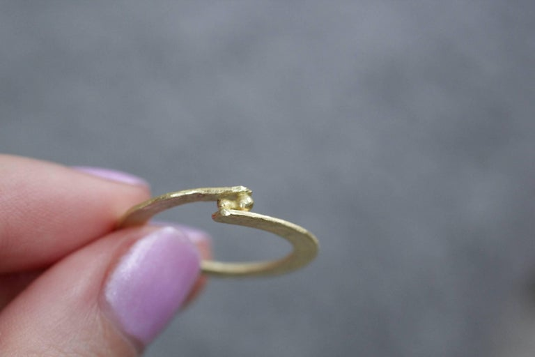 Diamond 18K Gold Sterling Silver Fashion Band Unisex Ring for Men Women Stack#12 For Sale 2