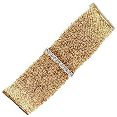 Diamonds, 18 Karat White and Yellow Gold Bracelet