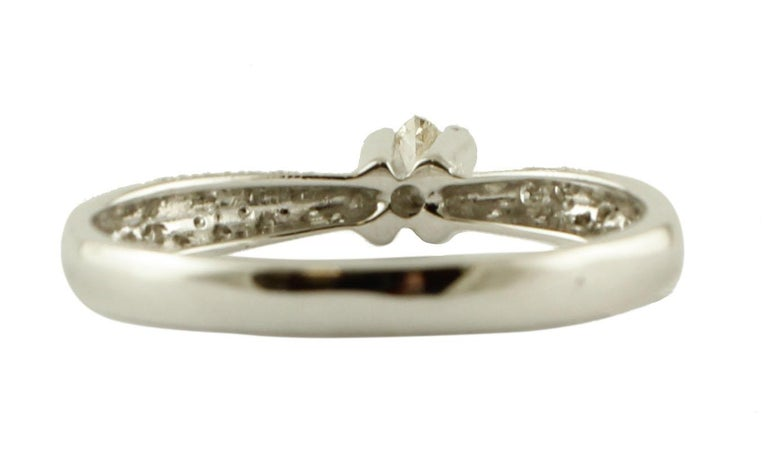Diamonds, 18 Karat White Gold Solitary Ring In Good Condition For Sale In Marcianise, Caserta