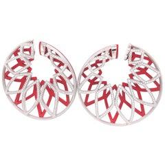 Diamonds 2.60 Carat Aluminium Hoops Earrings