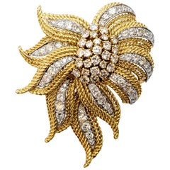 Diamonds 5.50 Carat Italian Made Brooch