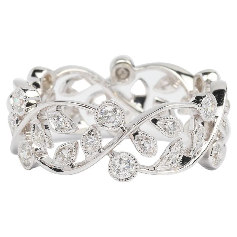 Diamonds and 14K White Gold Anniversary Band Ring