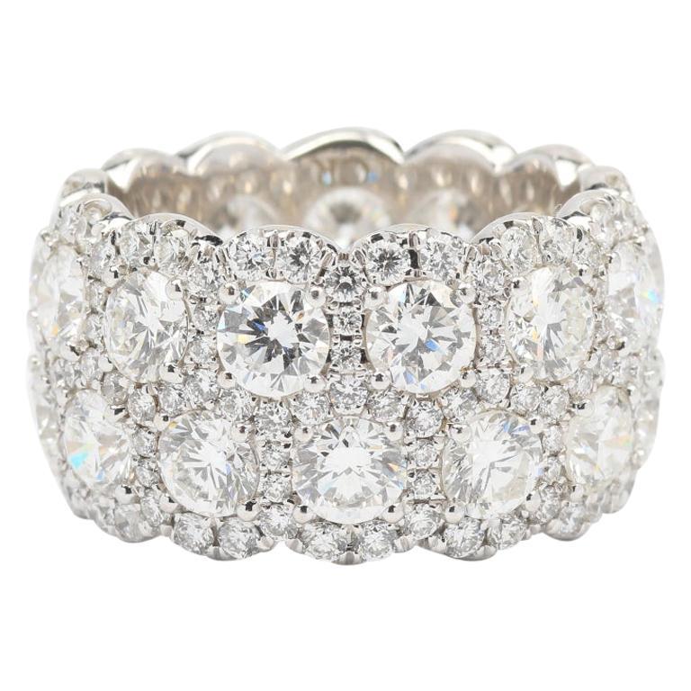 Diamonds and 18K White Gold Multistone Ring Band