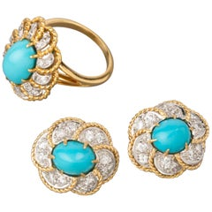 Diamonds and Turquoises French Set