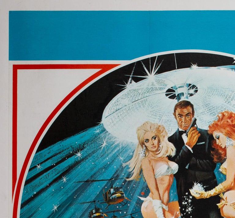 British Diamonds Are Forever Original UK James Bond Film Poster, 1971, Robert McGinnis For Sale