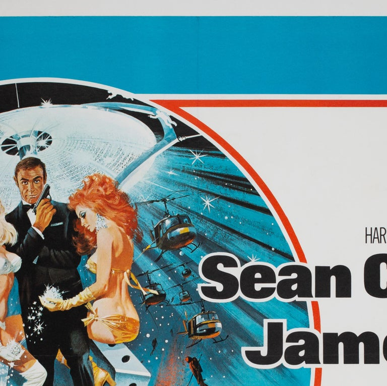 Diamonds Are Forever Original UK James Bond Film Poster, 1971, Robert McGinnis In Good Condition For Sale In Bath, Somerset