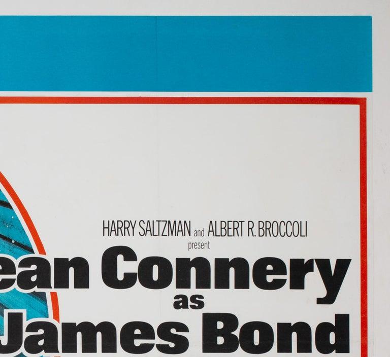 20th Century Diamonds Are Forever Original UK James Bond Film Poster, 1971, Robert McGinnis For Sale