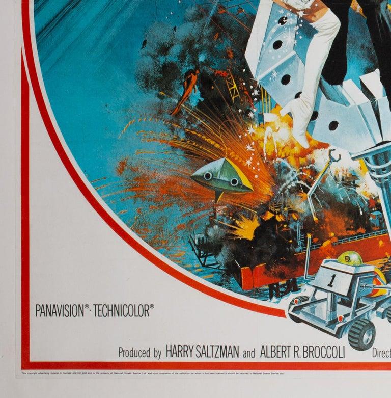 Paper Diamonds Are Forever Original UK James Bond Film Poster, 1971, Robert McGinnis For Sale