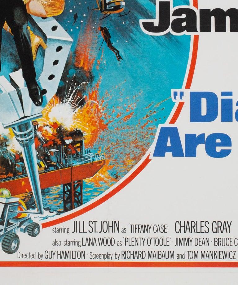 Diamonds Are Forever Original UK James Bond Film Poster, 1971, Robert McGinnis For Sale 1