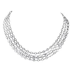 Diamonds by the Yard Necklace Approximate 70 Carat Platinum and Diamond Chain