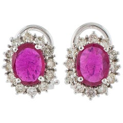 Diamonds Central Ruby White Gold Earrings