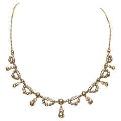 Diamonds Choker Necklaces White Gold 18 Karat