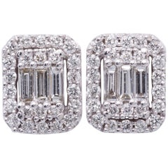 Diamonds Clusters Studs Earrings