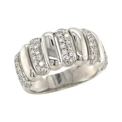 Diamonds Color H on White Gold Engagement Ring
