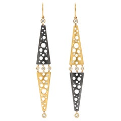 Diamonds Dropping On Helena Mirroring Earrings