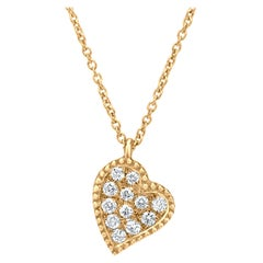 Heart Diamonds Pendant Necklace in 18K Yellow Gold
