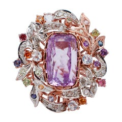 Diamonds, Iolite, Tourmaline, Peridot, Garnet, Moonstone, Topaz, Amethysts Ring