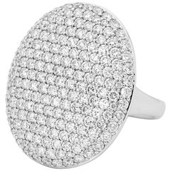 Diamonds Micro Pave Set White Gold Dress Ring