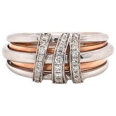 Diamonds on Rose Gold with White Gold 18 Karat