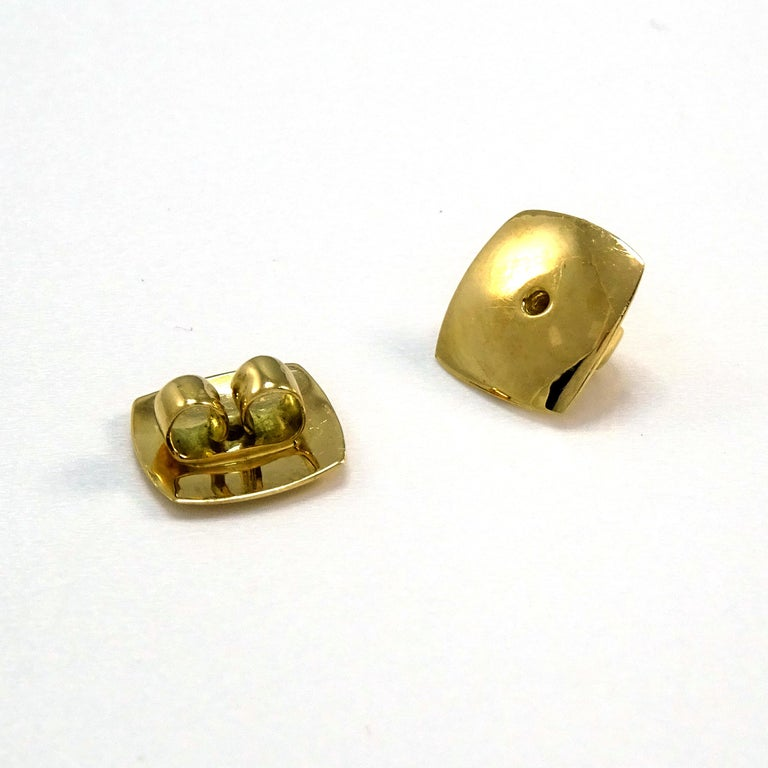 Diamonds Padparadscha Sapphires Tourmalines 18 Karat Gold Timascus Earrings For Sale 11