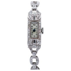 Diamonds, Platinum Bracelet/Wristwatch