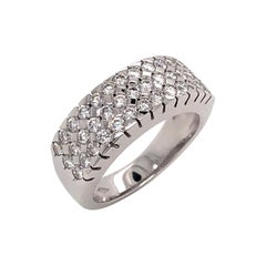 Diamonds Round Cut White Gold 18 Karat
