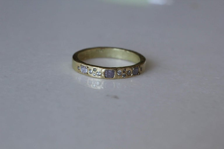 Diamonds Sapphire 22K 18K Gold Sterling Silver Bridal Wedding Band Ring Stack#1 In New Condition For Sale In New York, NY