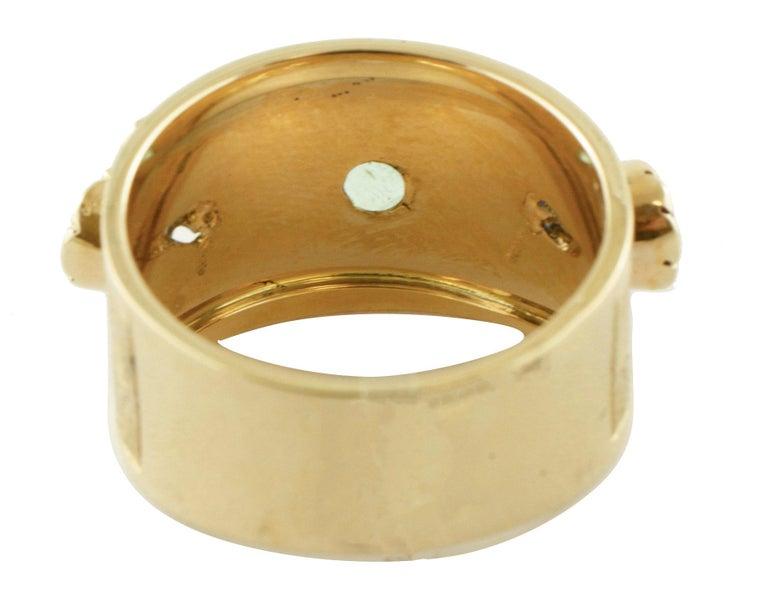 Women's Diamonds, Sapphires, Rubies, Emeralds, 14 Karat Yellow Gold Band Ring For Sale
