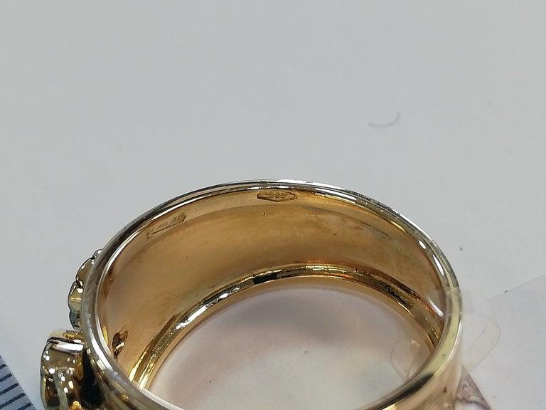 Diamonds, Sapphires, Rubies, Emeralds, 14 Karat Yellow Gold Band Ring For Sale 3