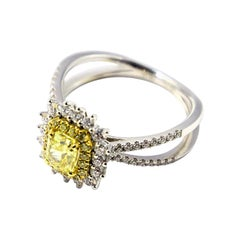 Diamonds, White and Yellow Gold Sunshine Cocktail Ring