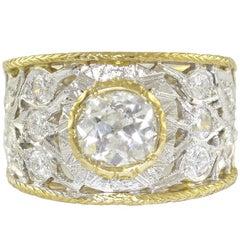 Diamonds Yellow and White Gold Ring