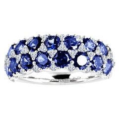 Diamond Town 2.68 Carat Blue Sapphire and 0.44 Carat Diamond Fashion Ring