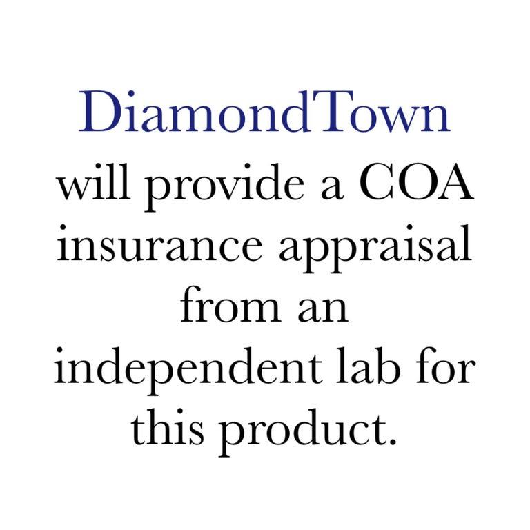 Women's DiamondTown 3.09 Carat Oval Cut Blue Zircon and Diamond Pendant  For Sale