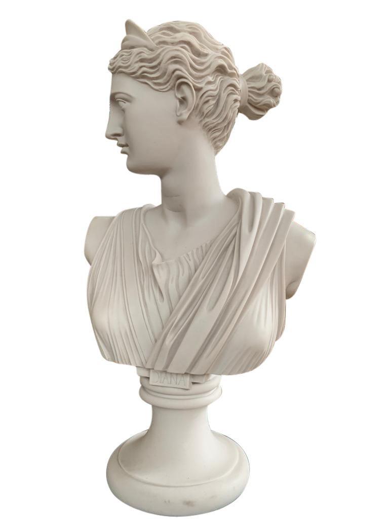 Statue Diana Diane Bronze Bust Sculpture moon goddess Artemis Huntress Large