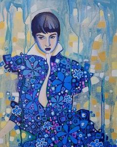 Woman Contemplating, Original Painting
