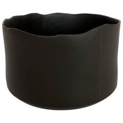 Diana Gillispie Large Pieced Black Glazed Ceramic Bowl
