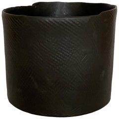 Diana Gillispie Textured Black Glazed Ceramic Bowl