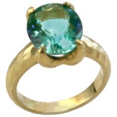 Diana Kim England Afghanistan Tourmaline Ring in 18 Karat Gold