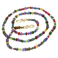 Diana Kim England Many Colored Faceted Gemstone Bead Strand