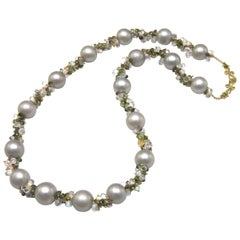 Diana Kim England Nantucket's Grey Lady Pearl, Fancy Color Sapphire, Necklace