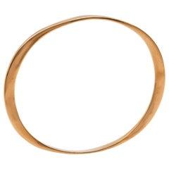 Diana Kim England Oval Bangle in 10 Karat Rose Gold