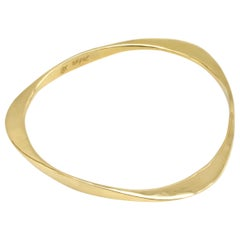 Diana Kim England Solid Triangle Bangle Bracelet in 18 Karat Gold