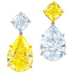 Diana M. 38.64 Carat Diamond Earrings, GIA Certified