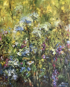 Summer Grass, Mixed Media on Canvas