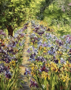 A Path in the Garden, Painting, Oil on Canvas