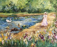 At the Pond, Painting, Oil on Canvas