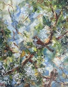 Bird Cherry Tree, Painting, Oil on Canvas