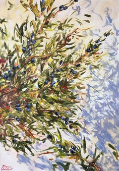 Branches d'olivier, Painting, Oil on Canvas