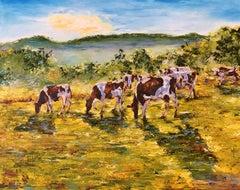 Dans les près alpins, Painting, Oil on Canvas